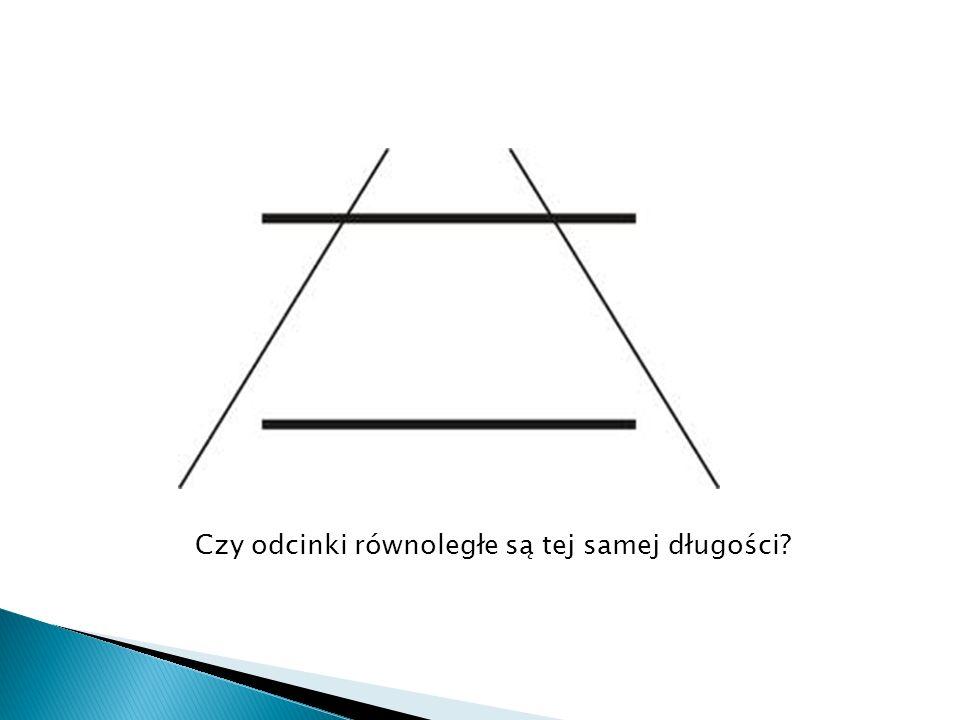 Czy odcinki równoległe są tej samej długości