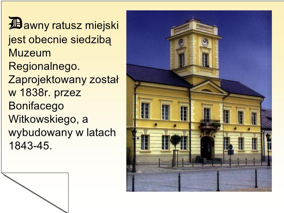Dawny ratusz miejski jest obecnie siedzibą Muzeum Regionalnego