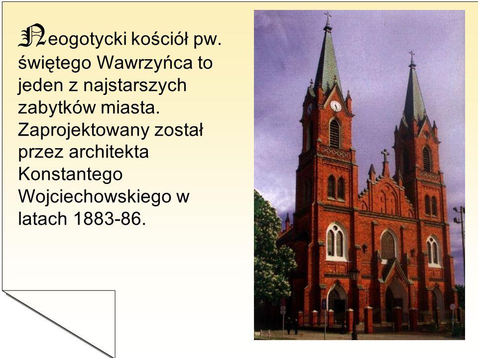 Neogotycki kościół pw. świętego Wawrzyńca to jeden z najstarszych zabytków miasta.