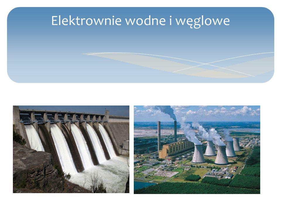Elektrownie wodne i węglowe