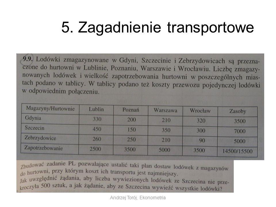 5. Zagadnienie transportowe