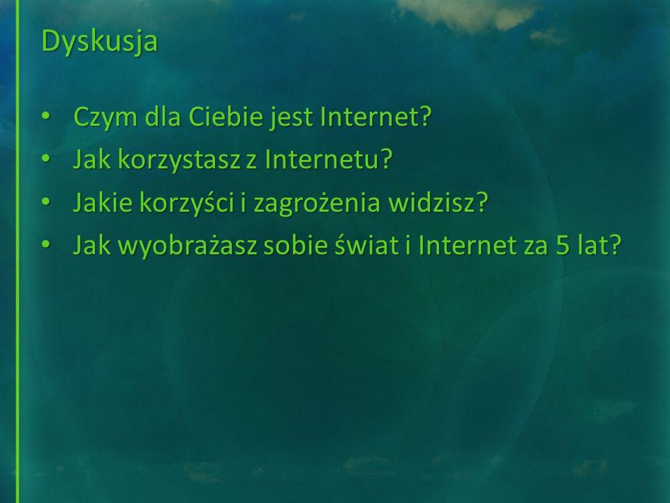 Dyskusja Czym dla Ciebie jest Internet Jak korzystasz z Internetu