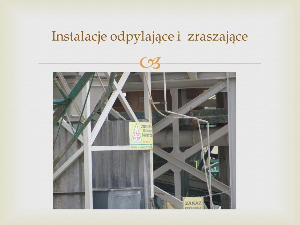 Instalacje odpylające i zraszające