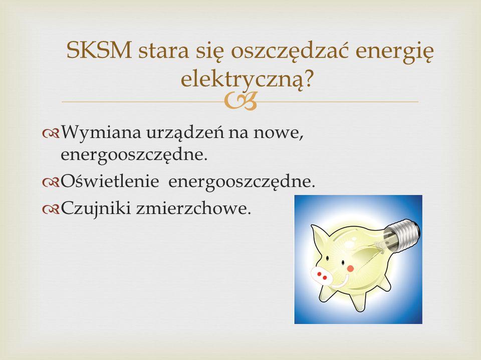 SKSM stara się oszczędzać energię elektryczną