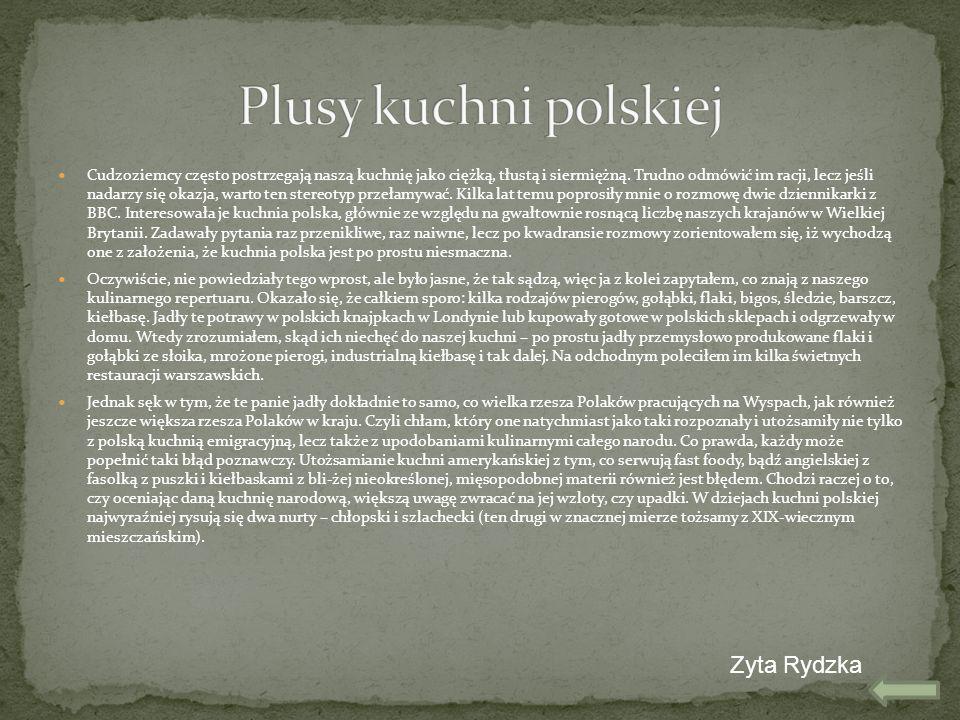 Plusy kuchni polskiej Zyta Rydzka