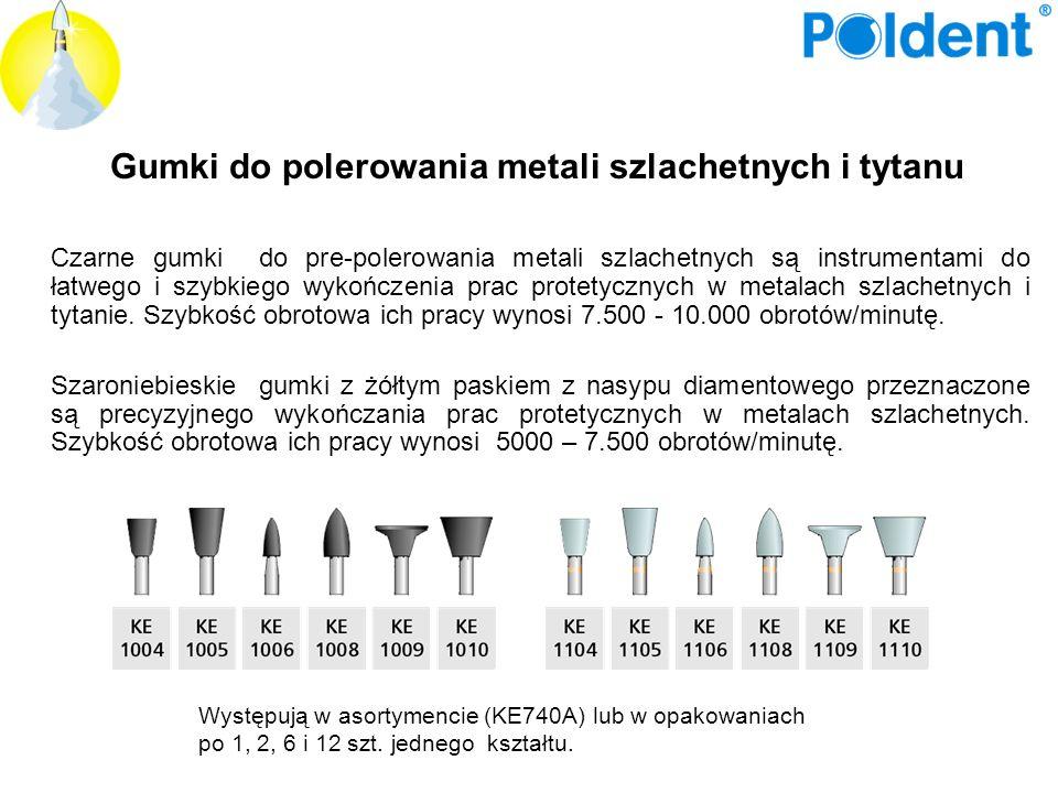 Gumki do polerowania metali szlachetnych i tytanu