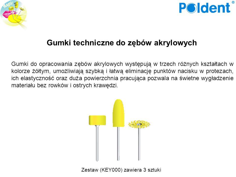 Gumki techniczne do zębów akrylowych