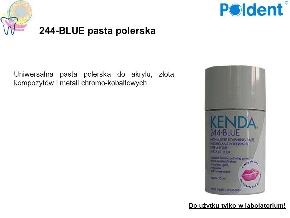 244-BLUE pasta polerska Uniwersalna pasta polerska do akrylu, złota, kompozytów i metali chromo-kobaltowych.