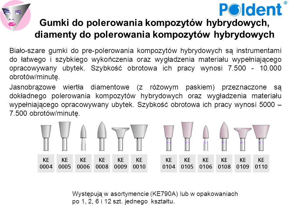 Gumki do polerowania kompozytów hybrydowych, diamenty do polerowania kompozytów hybrydowych