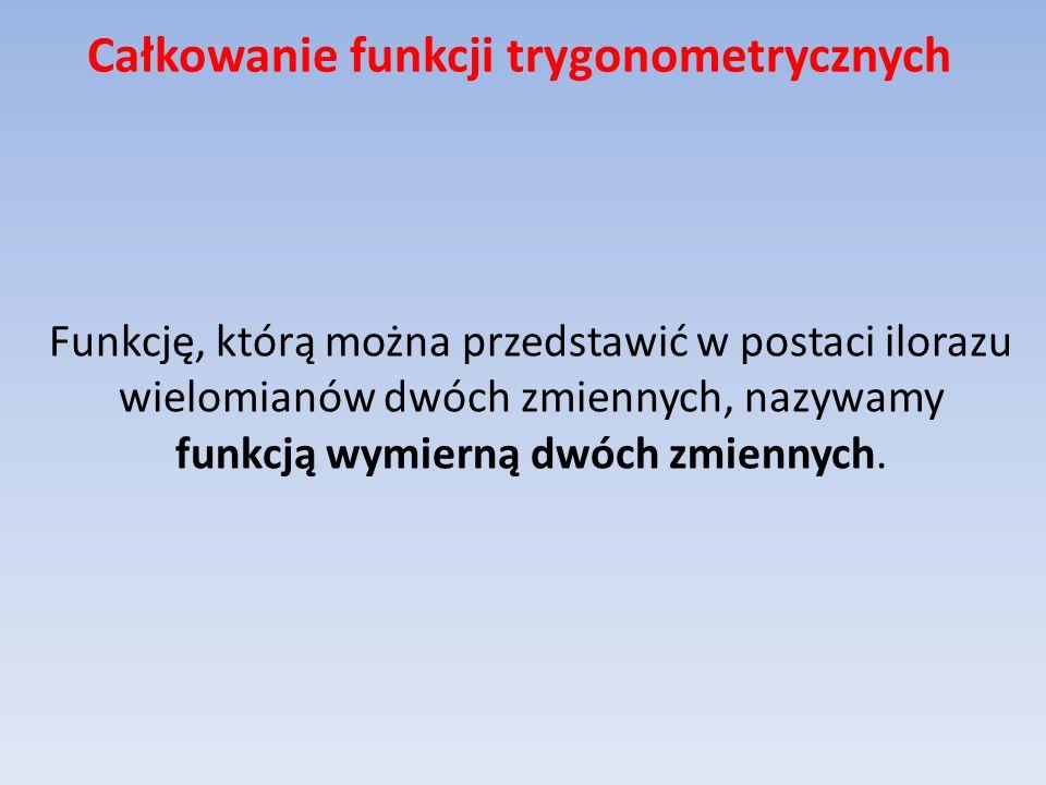 Całkowanie funkcji trygonometrycznych