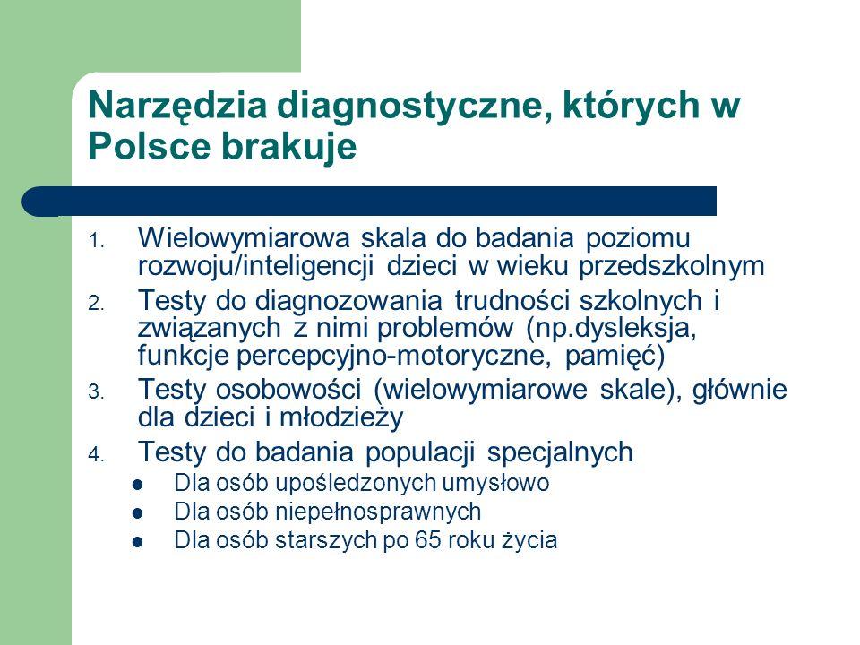 Narzędzia diagnostyczne, których w Polsce brakuje
