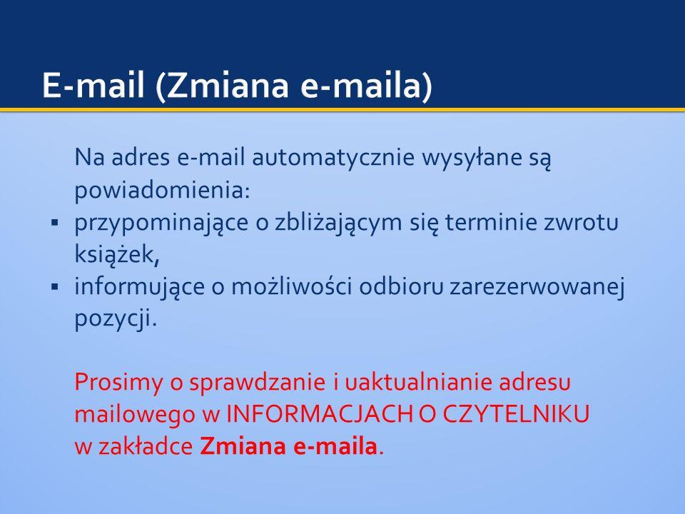 E-mail (Zmiana e-maila)