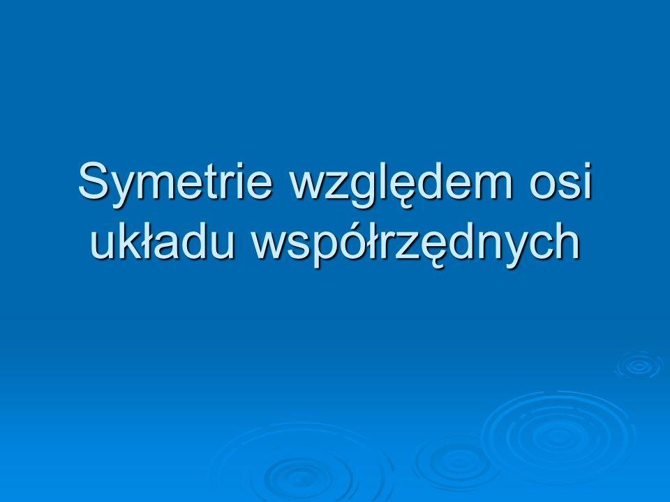 Symetrie względem osi układu współrzędnych