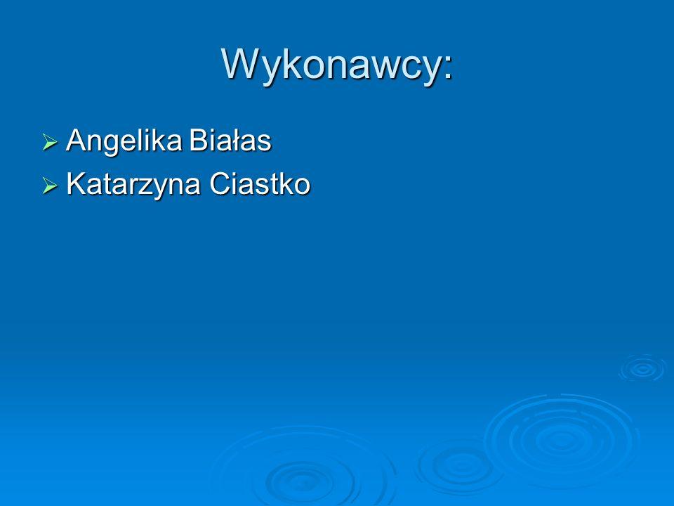 Wykonawcy: Angelika Białas Katarzyna Ciastko