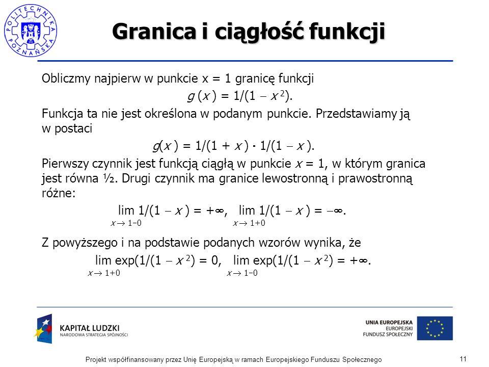 Granica i ciągłość funkcji