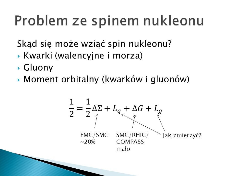 Problem ze spinem nukleonu