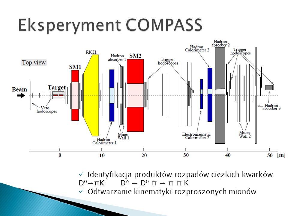 Eksperyment COMPASS Identyfikacja produktów rozpadów cięzkich kwarków