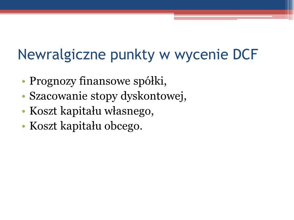 Newralgiczne punkty w wycenie DCF