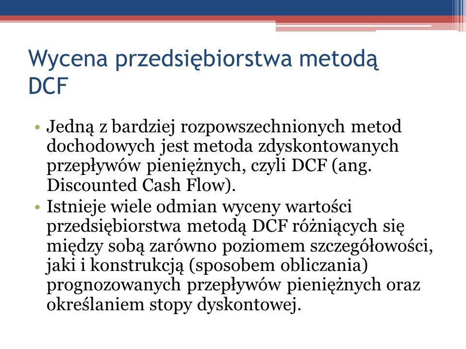 Wycena przedsiębiorstwa metodą DCF