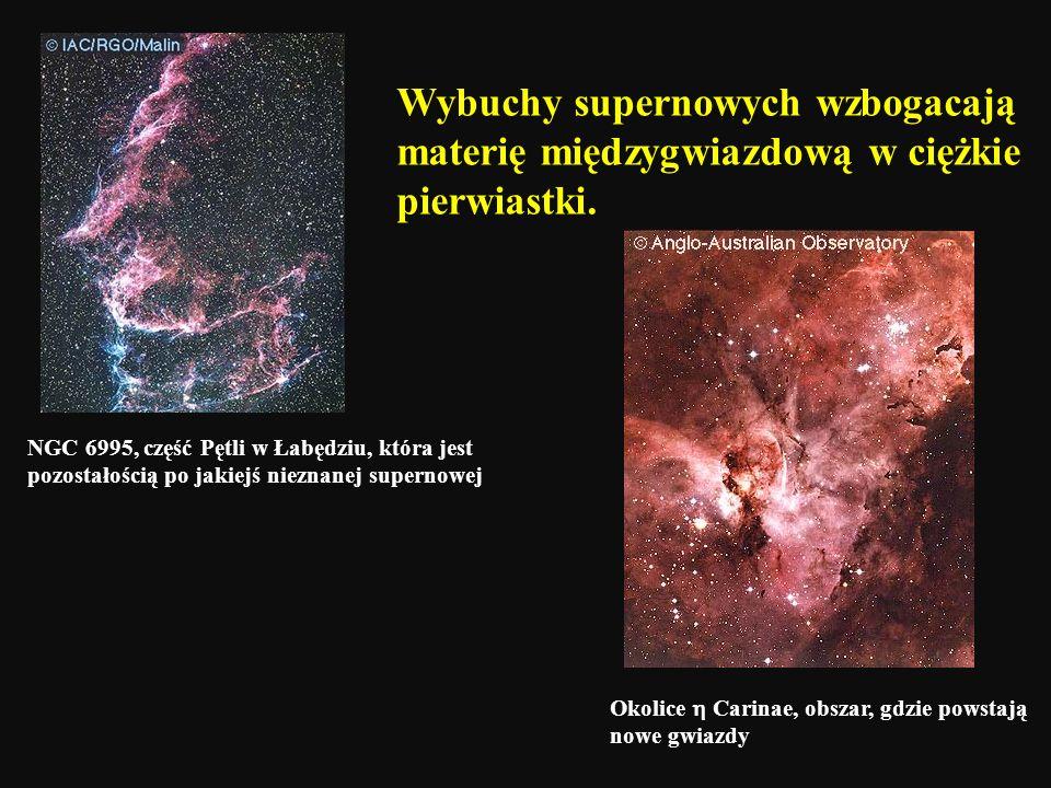 Wybuchy supernowych wzbogacają materię międzygwiazdową w ciężkie pierwiastki.