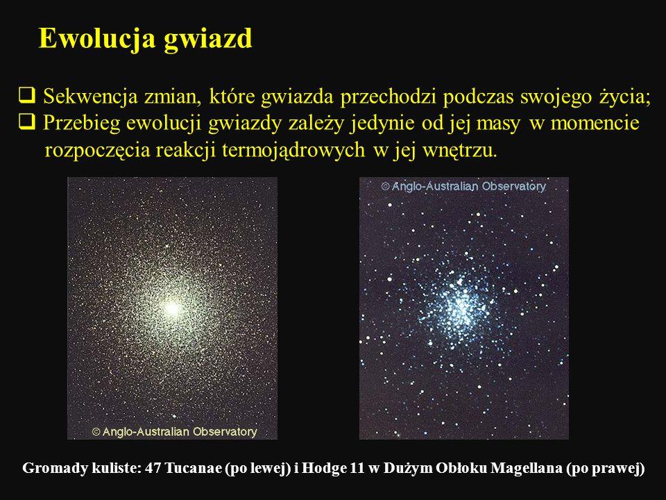 Ewolucja gwiazd Sekwencja zmian, które gwiazda przechodzi podczas swojego życia;
