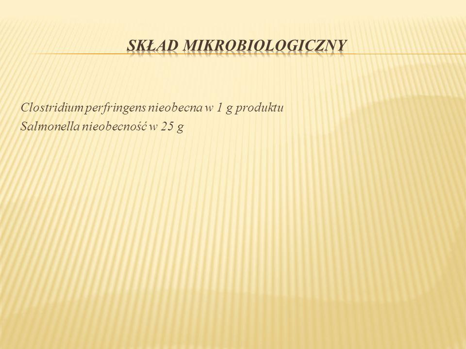 SKŁAD MIKROBIOLOGICZNY