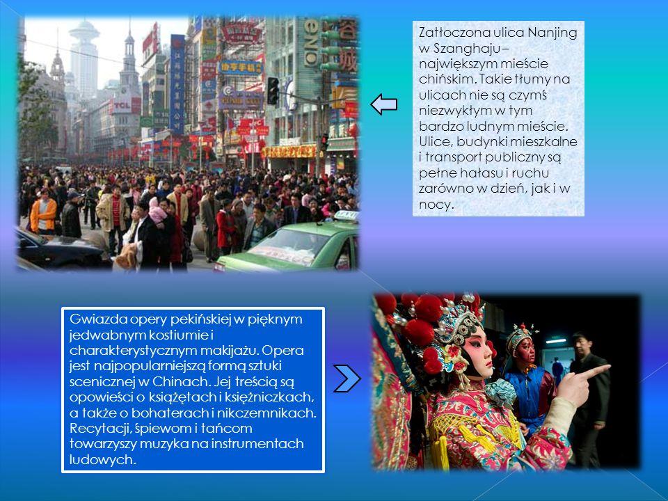 Zatłoczona ulica Nanjing w Szanghaju – największym mieście chińskim