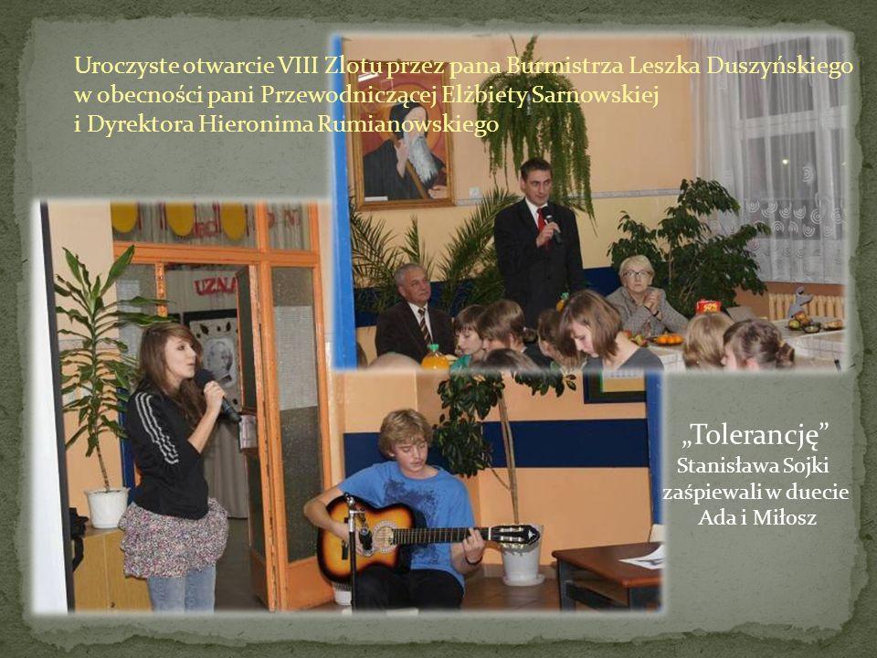 Uroczyste otwarcie VIII Zlotu przez pana Burmistrza Leszka Duszyńskiego