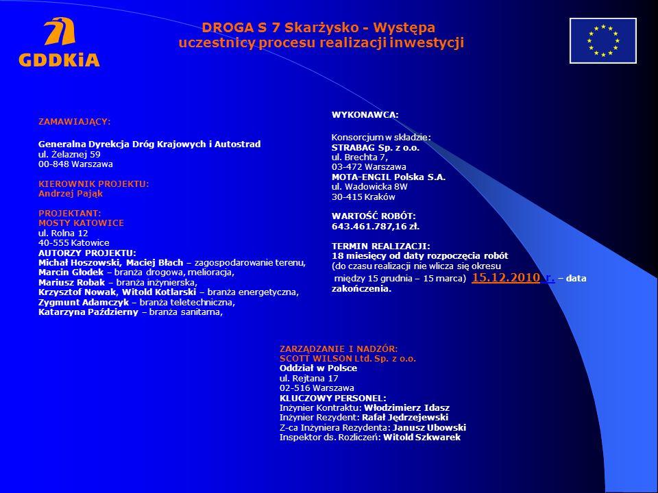 DROGA S 7 Skarżysko - Występa uczestnicy procesu realizacji inwestycji