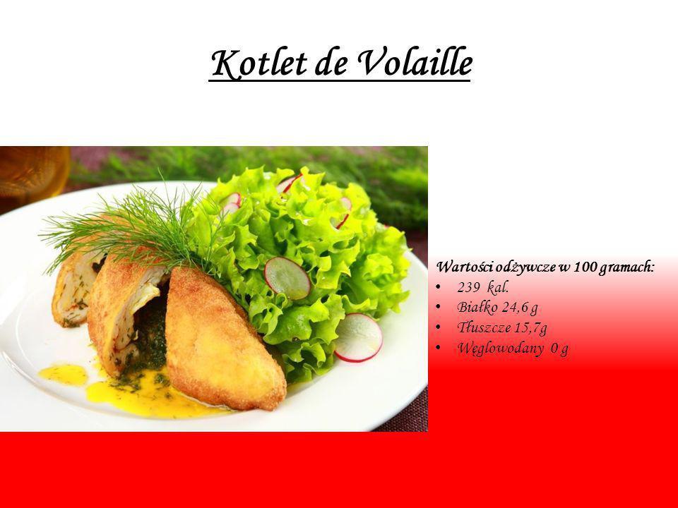 Kotlet de Volaille Wartości odżywcze w 100 gramach: 239 kal.