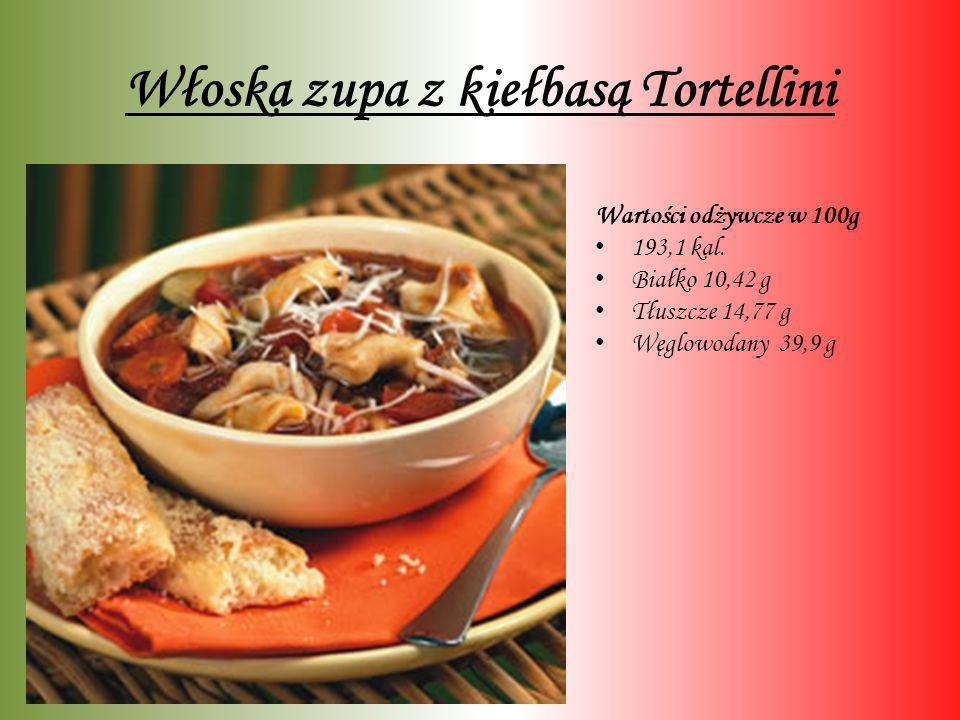 Włoska zupa z kiełbasą Tortellini