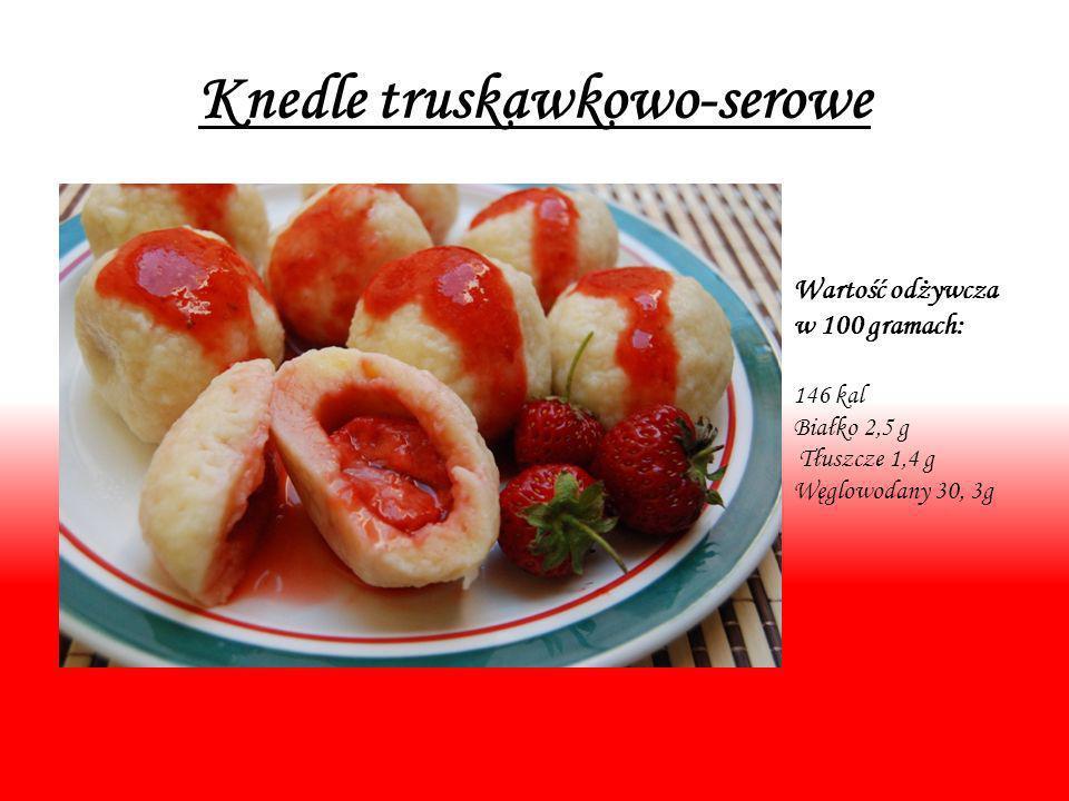 Knedle truskawkowo-serowe