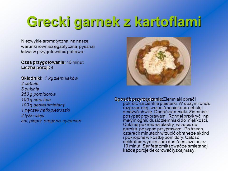 Grecki garnek z kartoflami