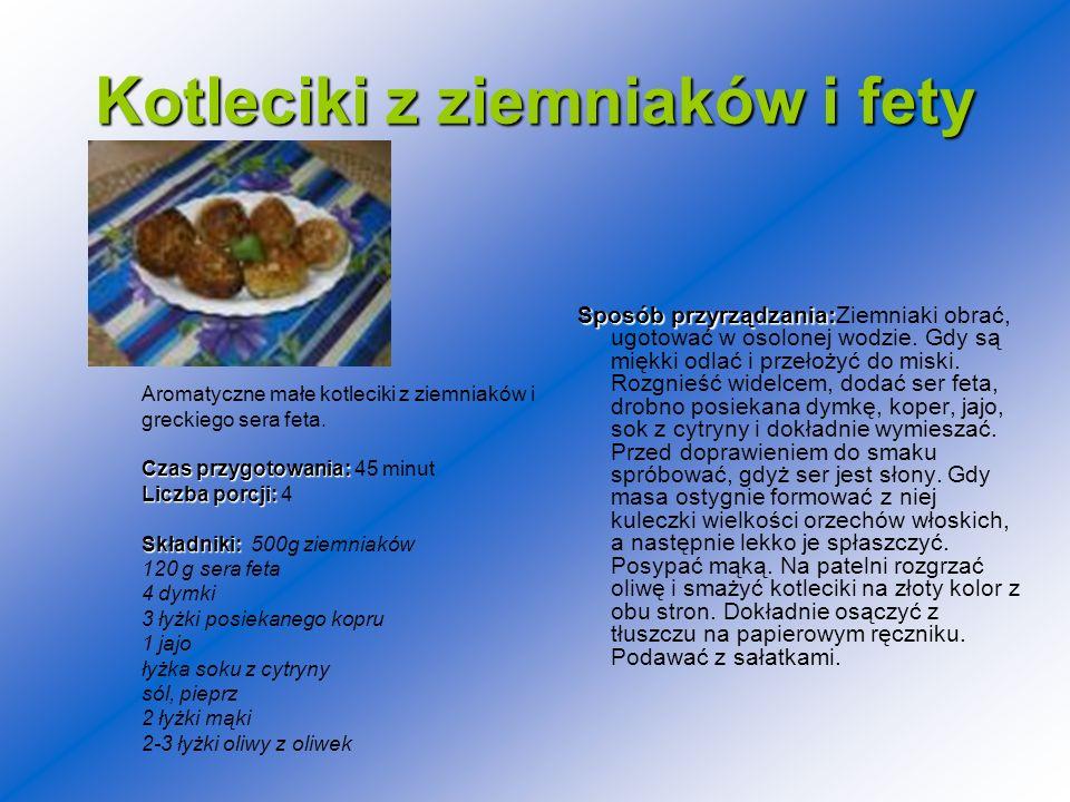 Kotleciki z ziemniaków i fety