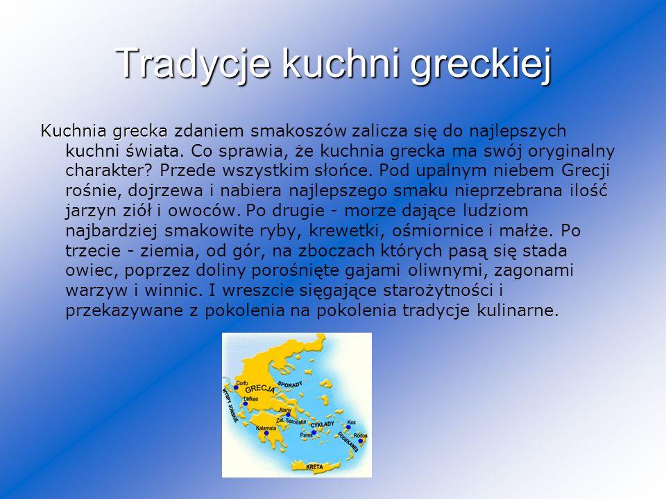Tradycje kuchni greckiej