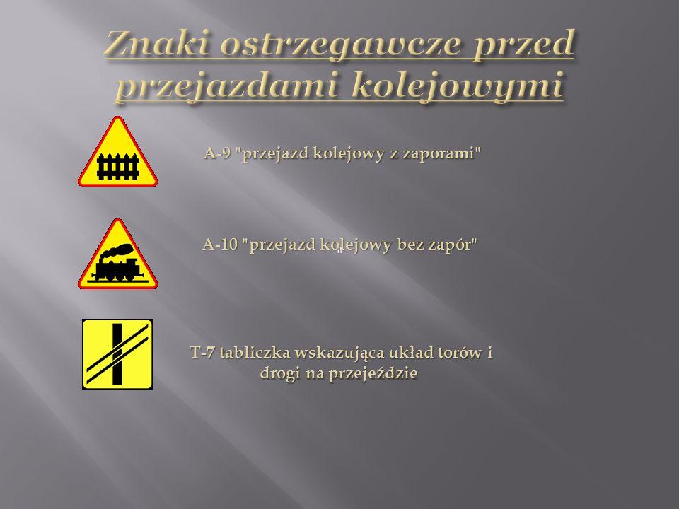 Znaki ostrzegawcze przed przejazdami kolejowymi