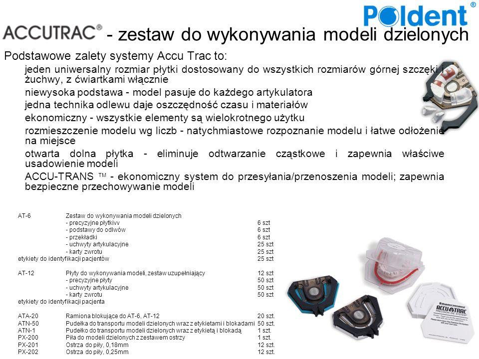 - zestaw do wykonywania modeli dzielonych