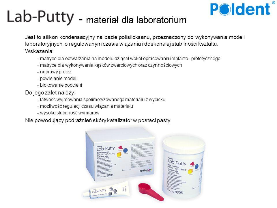 - materiał dla laboratorium