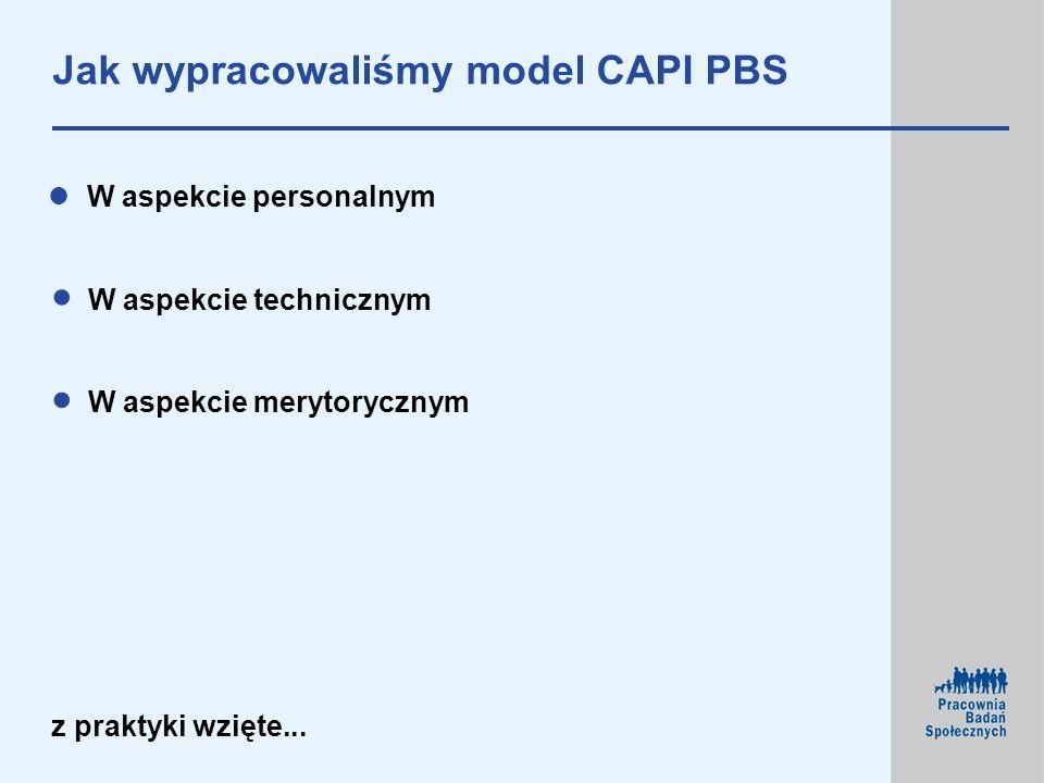 Jak wypracowaliśmy model CAPI PBS