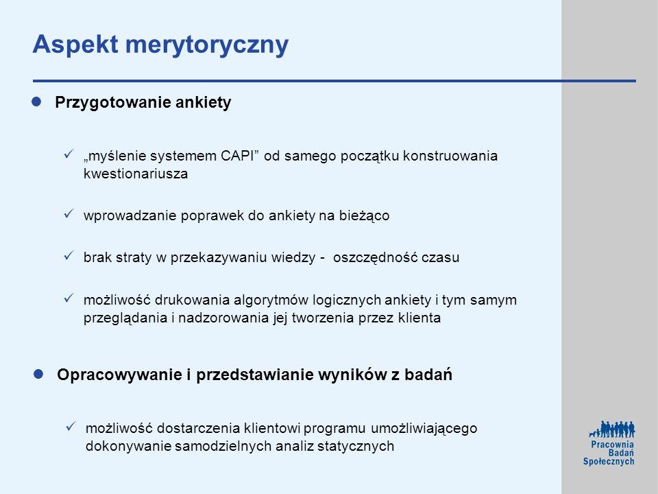 Aspekt merytoryczny Przygotowanie ankiety