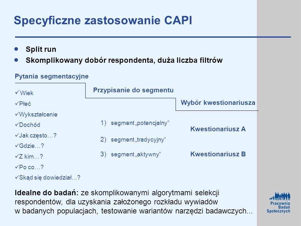Specyficzne zastosowanie CAPI