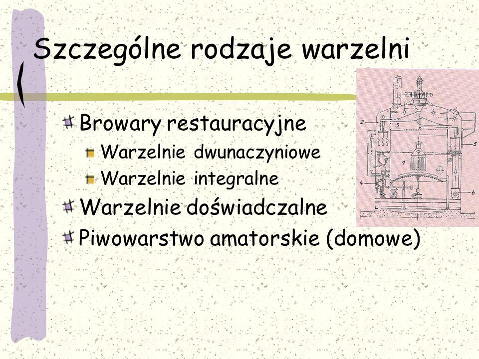 Szczególne rodzaje warzelni