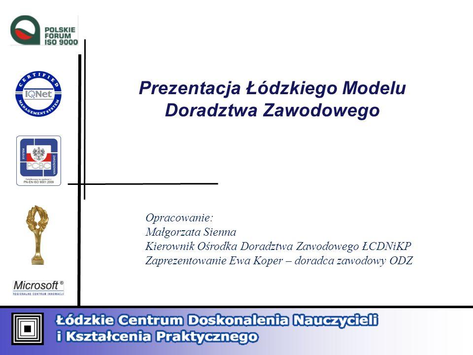 Prezentacja Łódzkiego Modelu Doradztwa Zawodowego
