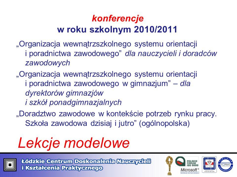 konferencje w roku szkolnym 2010/2011
