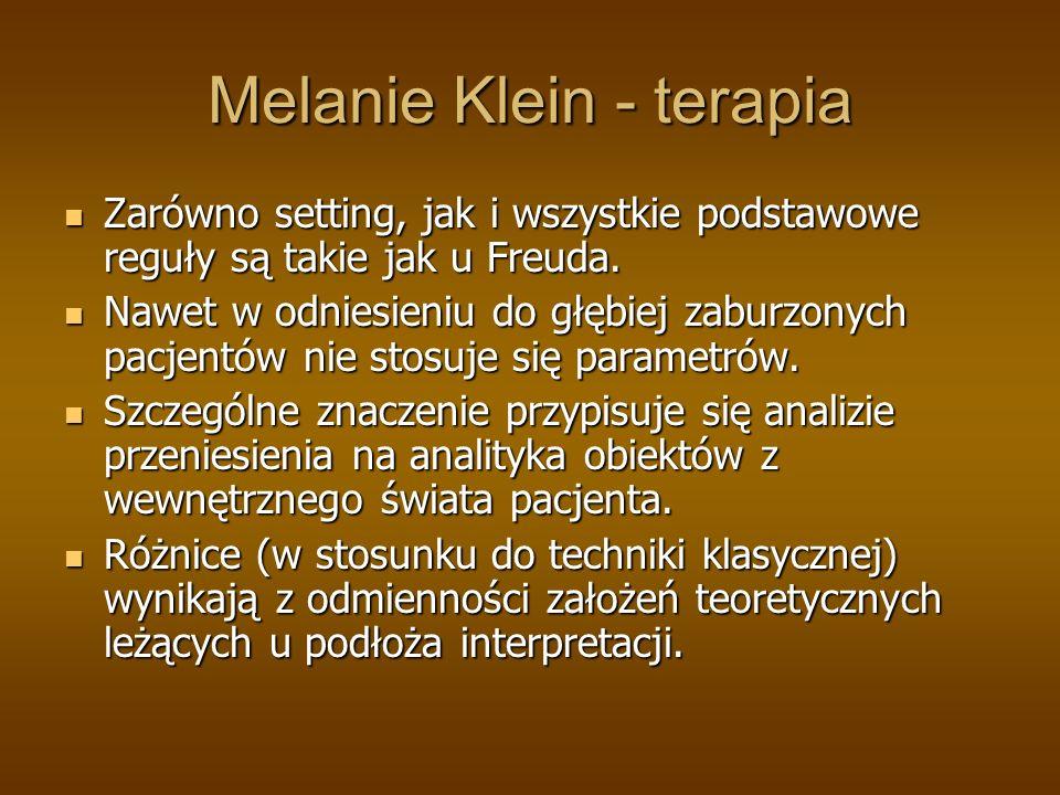 Melanie Klein - terapia
