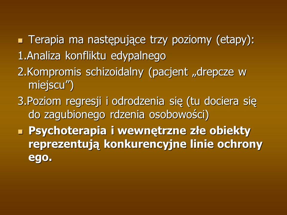 Terapia ma następujące trzy poziomy (etapy):