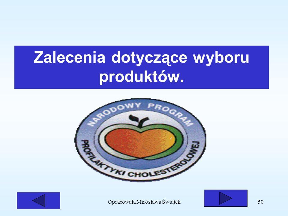 Zalecenia dotyczące wyboru produktów.