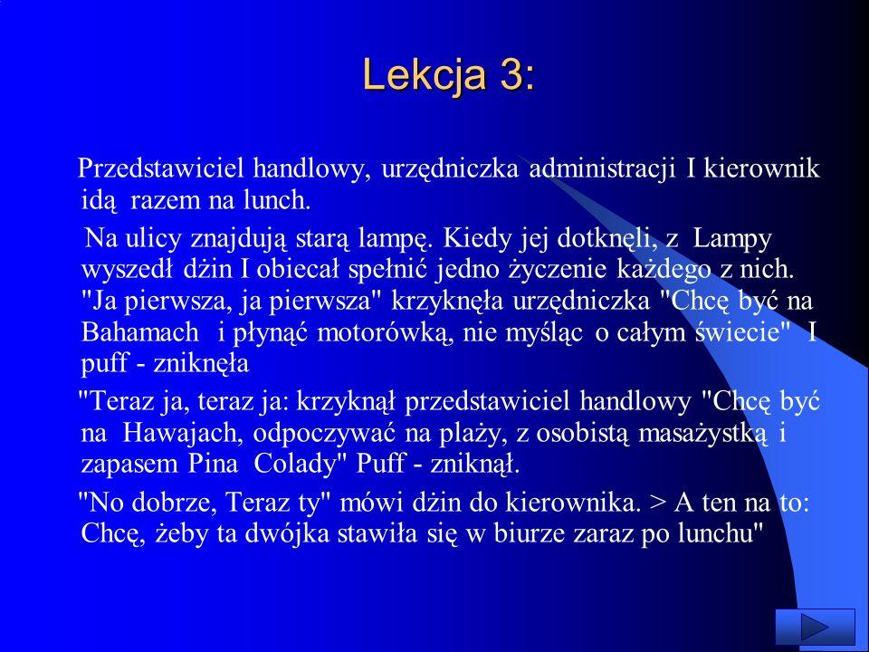 Lekcja 3: