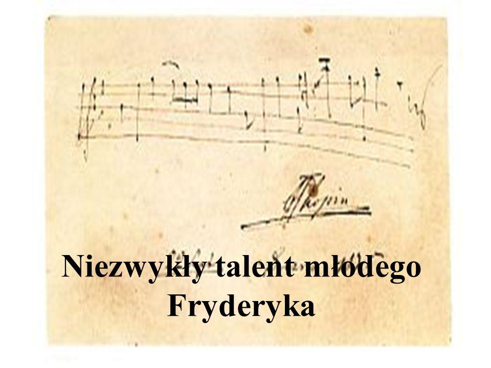Niezwykły talent młodego Fryderyka