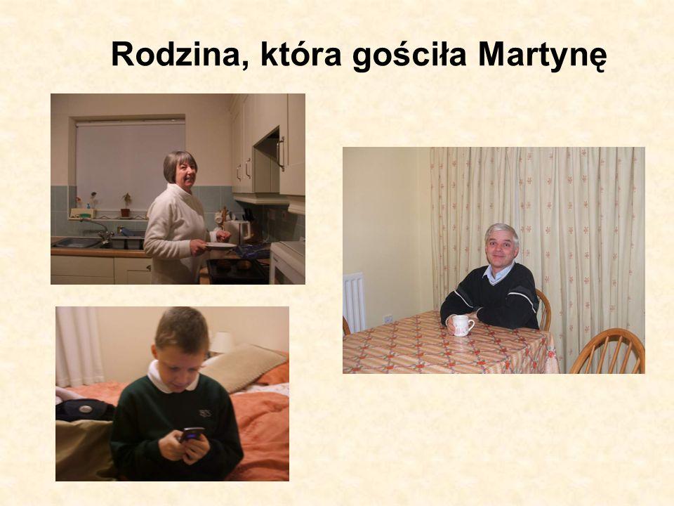 Rodzina, która gościła Martynę
